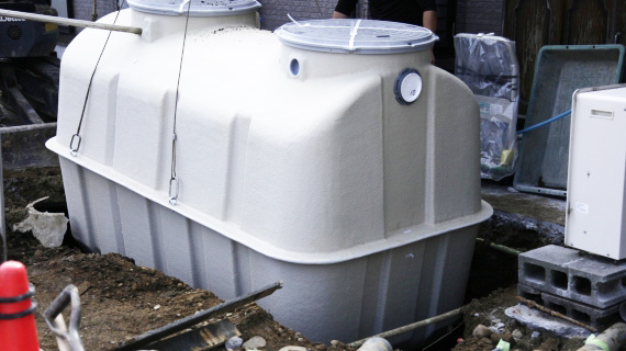 浄化槽の設置工事